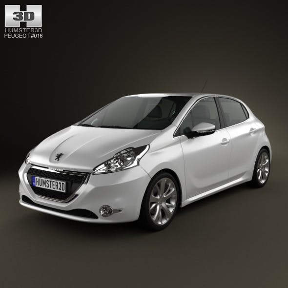 Peugeot 208 2013 - 3DOcean Item for Sale