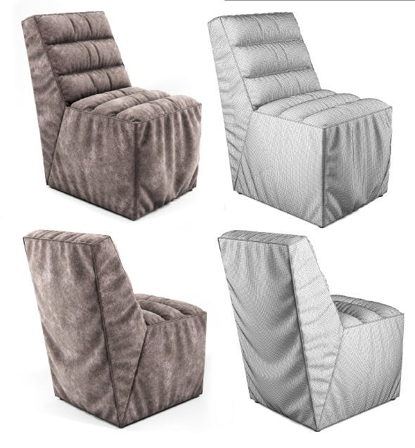 Soft Chair with pleats  - 3DOcean Item for Sale