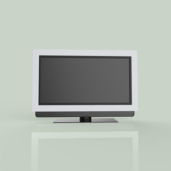 TV black color 3d modal - 3DOcean Item for Sale