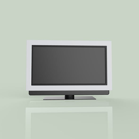 TV black color 3d modal