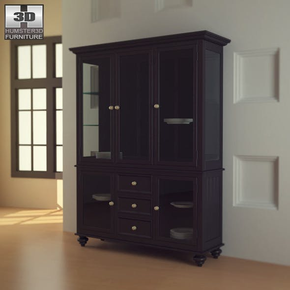 Black Camden China Cabinet - Lea American Drew - 3DOcean Item for Sale