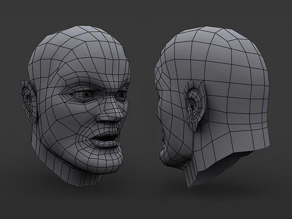 Human Comic Male Head Base Mesh - 3DOcean Item for Sale