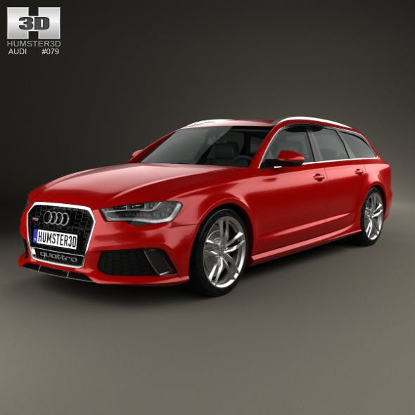 Audi RS6 (C7) avant 2014 - 3DOcean Item for Sale