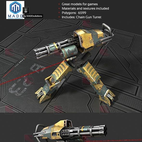 Chain Gun Turret, Machinegun Turret