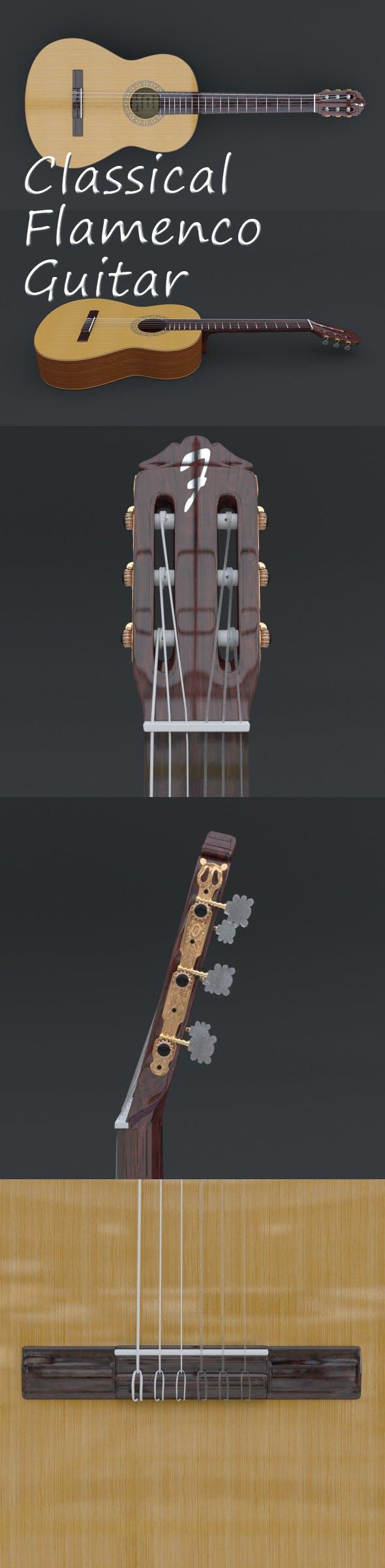 Classical Flamenco Guitar - 3DOcean Item for Sale