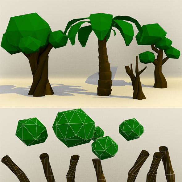 Low Poly Paper Tree