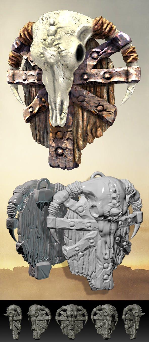 Fantasy Orcish Shield - 3DOcean Item for Sale