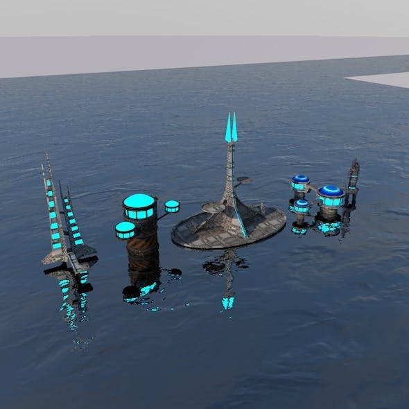 Space city - 3DOcean Item for Sale