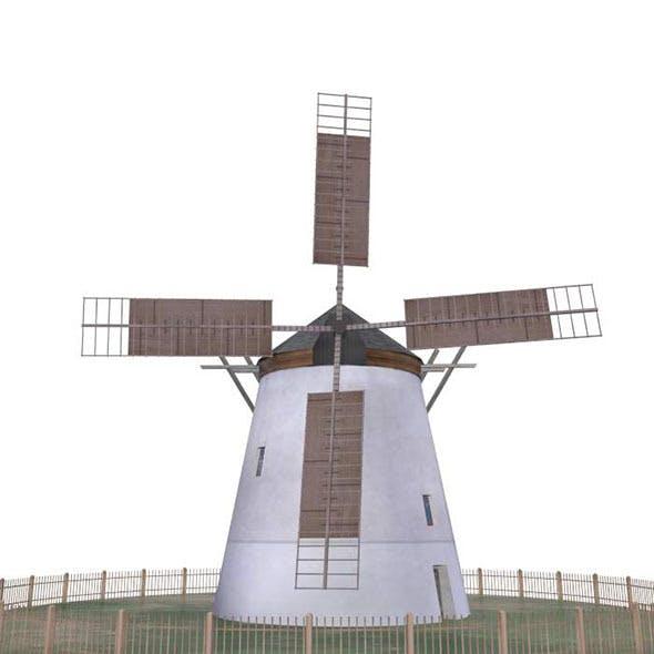 Windmill Retz Austria - Low Poly