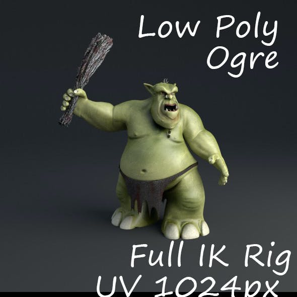 Ogre Rigged Lowpoly