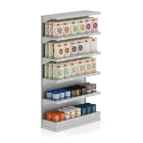Market Shelf - Nuts - 3DOcean Item for Sale
