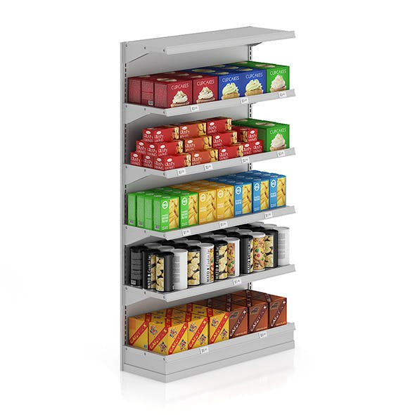 Market Shelf - Sweets and cookies - 3DOcean Item for Sale