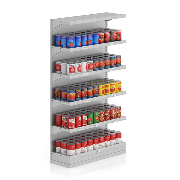 Market Shelf - Canned tomatoes - 3DOcean Item for Sale