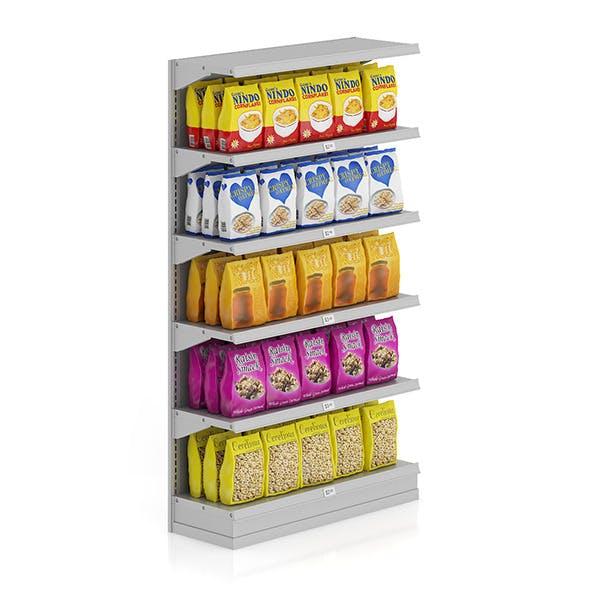 Market Shelf - Cereals and cornflakes - 3DOcean Item for Sale