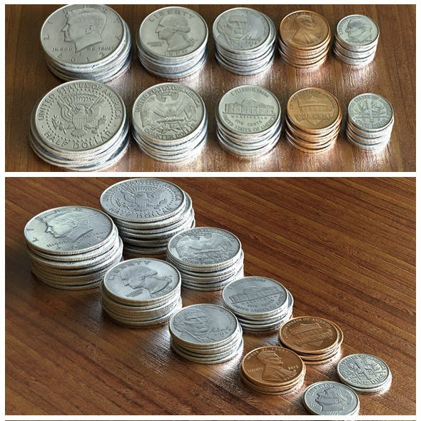 US Dollar Coins Set