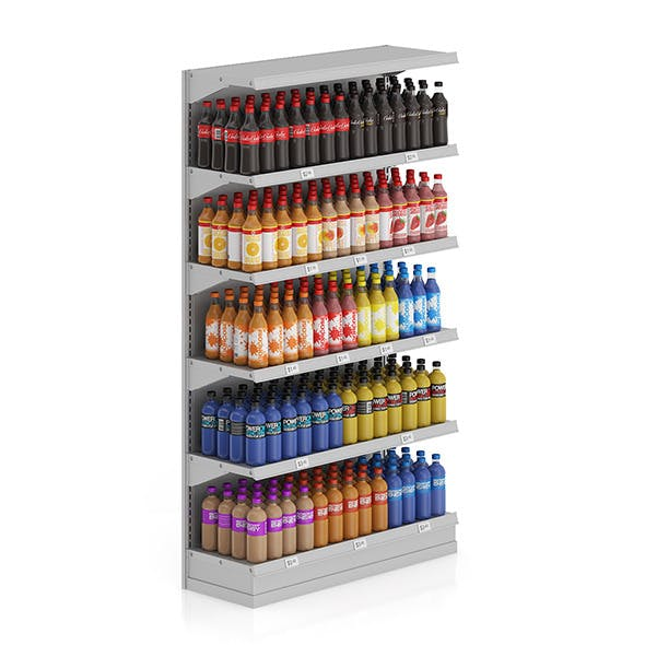 Market Shelf - Bottled drinks 1 - 3DOcean Item for Sale