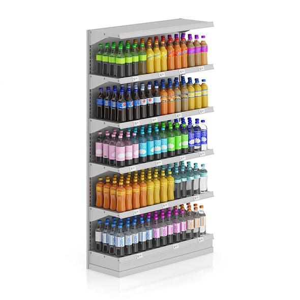 Market Shelf - Bottled drinks 2 - 3DOcean Item for Sale