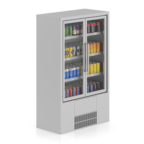 Market Fridge - Canned drinks 2 - 3DOcean Item for Sale