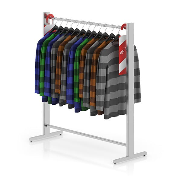 Sweaters on Hangers - 3DOcean Item for Sale
