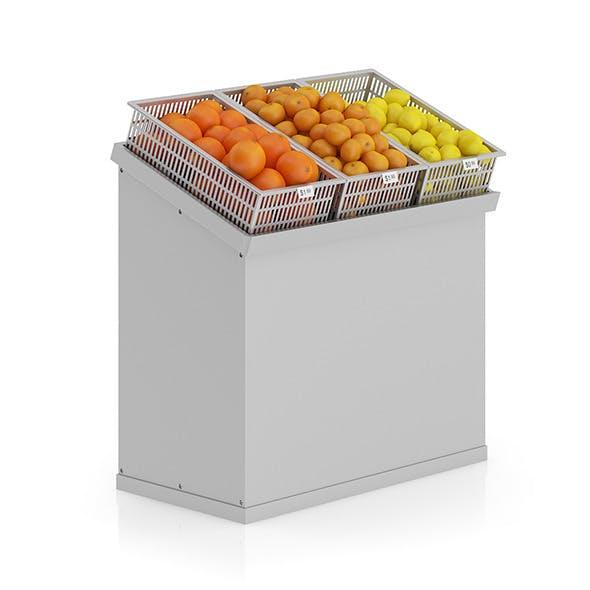 Market Shelf - Citrus fruits - 3DOcean Item for Sale