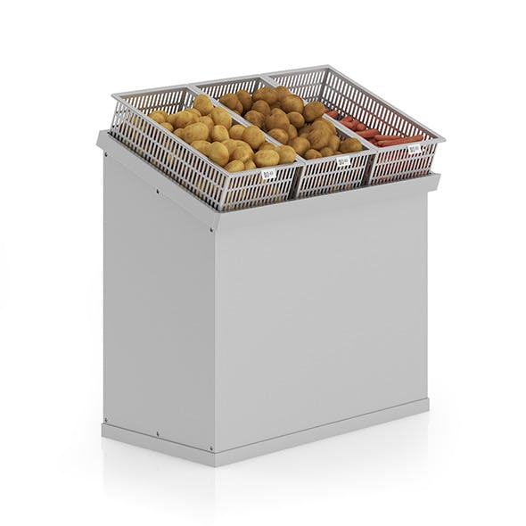 Market Shelf - Potatoes and carrots - 3DOcean Item for Sale