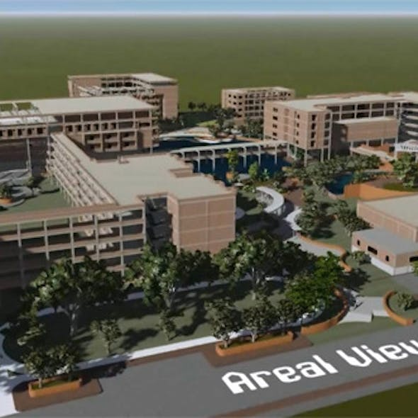 A medical college and hospital (500 bed)