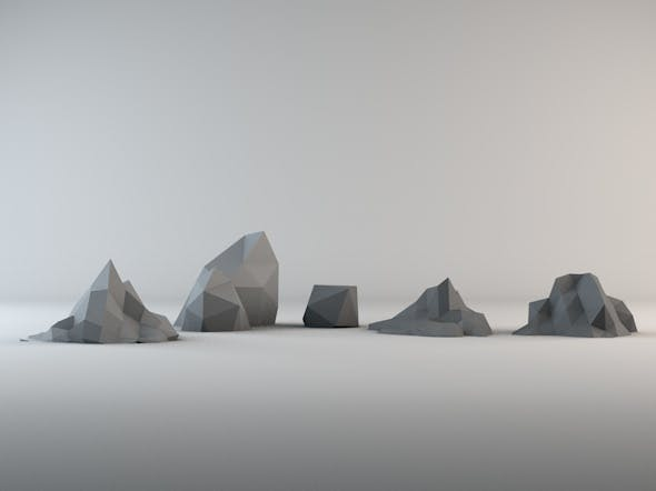 Low poly Rock Pack 1 - 3DOcean Item for Sale