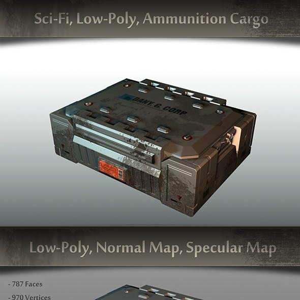Sci-fi, Low-Poly, Ammunition Cargo