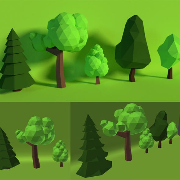 LowPoly Trees .Pack6
