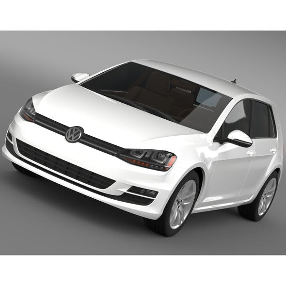 Volkswagen Golf TSI 5d 2015 - 3DOcean Item for Sale