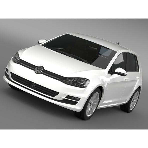 VW Golf TDI 4MOTION 5d Typ 5G 2013 - 3DOcean Item for Sale
