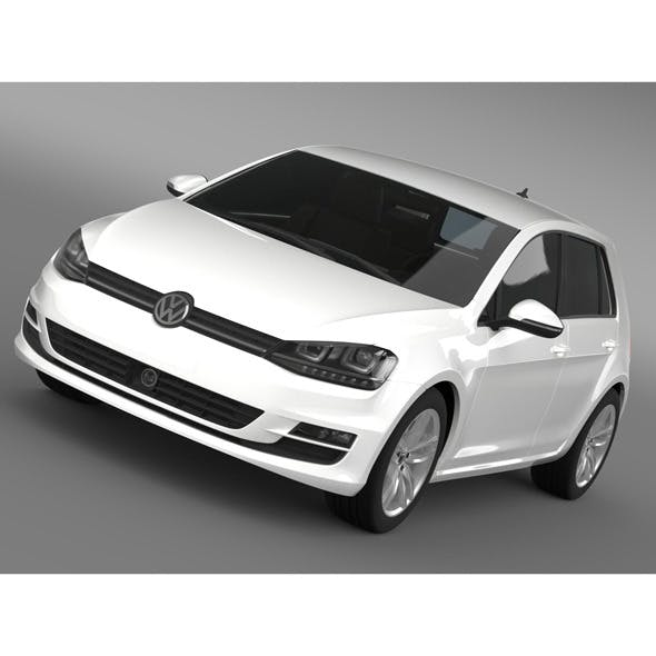 VW Golf TDI 4MOTION 5d Typ 5G 2012 - 3DOcean Item for Sale