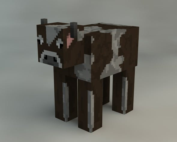 Cow Minecraft - 3DOcean Item for Sale