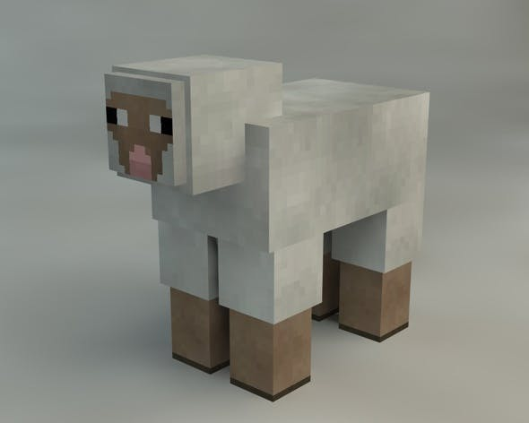 Sheep Minecraft - 3DOcean Item for Sale