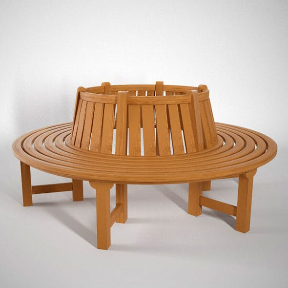 Round Bench - 3DOcean Item for Sale