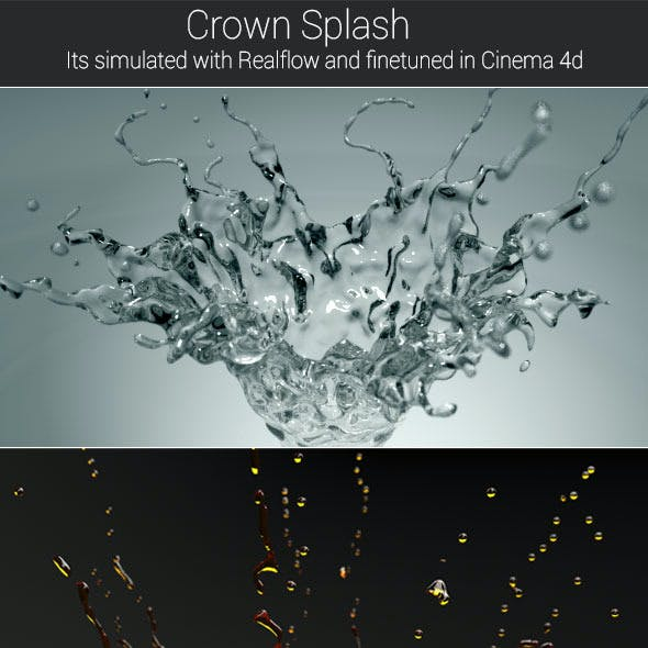 Fluid Splash CG Textures & 3D Models from 3DOcean