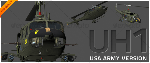 UH1 -Huey Extreme - 3DOcean Item for Sale