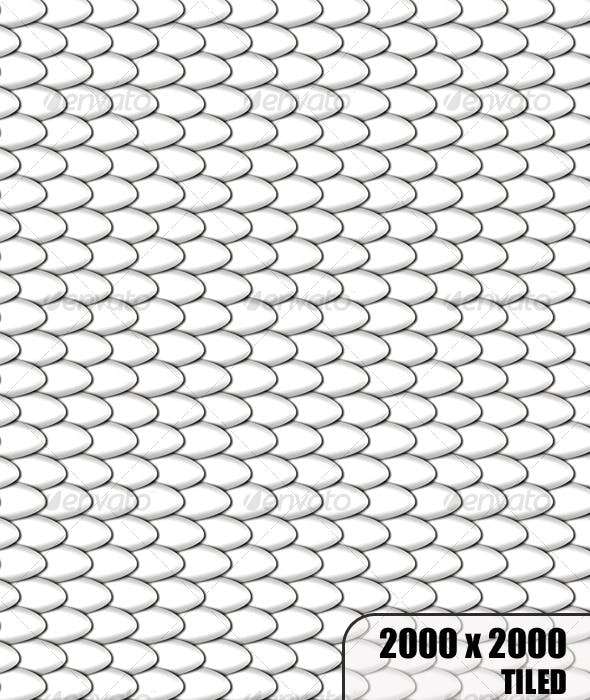 White Tiled Scales - 3DOcean Item for Sale