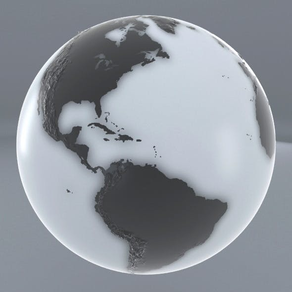 Earth - Black and white