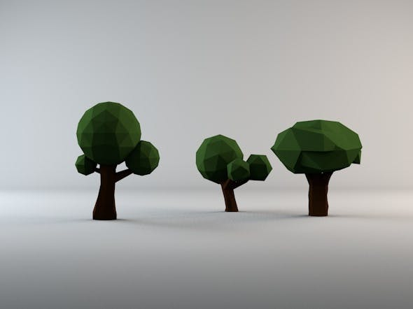 Low Poly Trees Pack 1 - 3DOcean Item for Sale