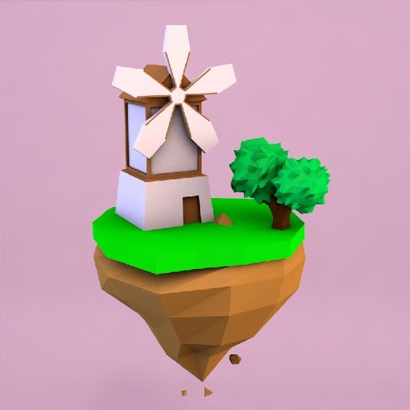 Low poly mill - 3DOcean Item for Sale