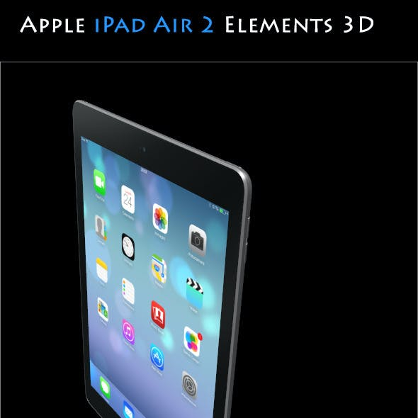Apple iPad Air 2 - Elements3D