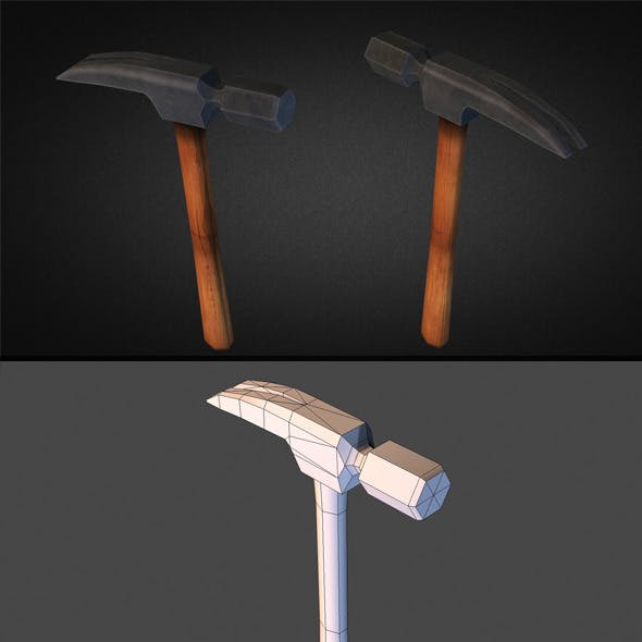 Hammer Low Poly