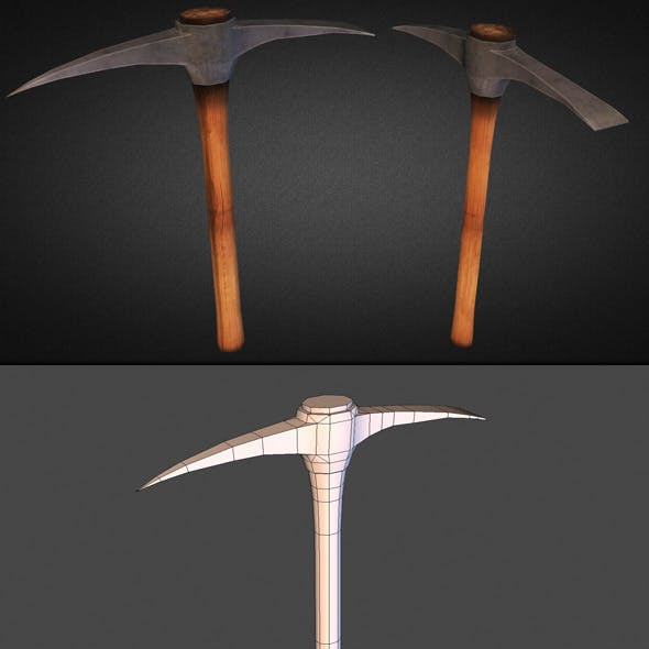 Pickaxe Low Poly
