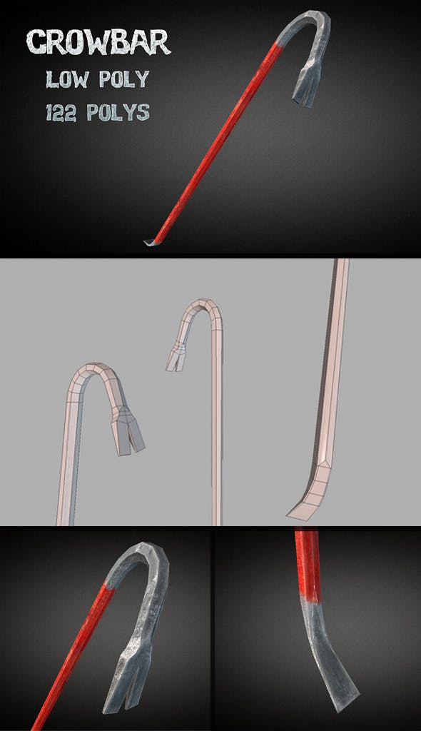 Crowbar - Low Poly - 3DOcean Item for Sale