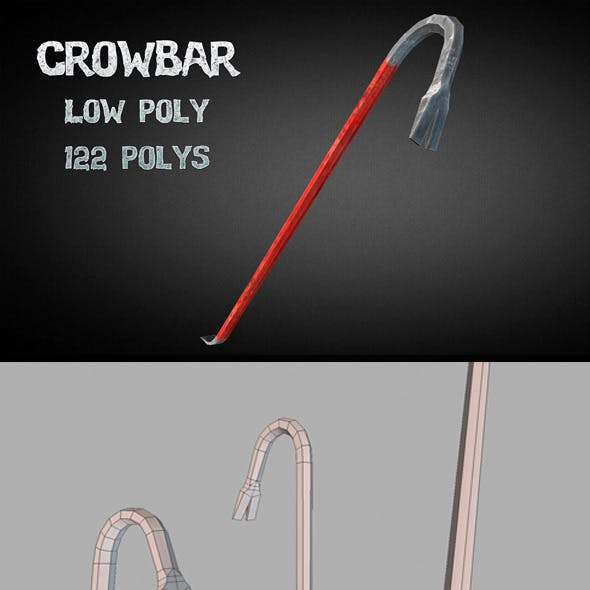 Crowbar - Low Poly