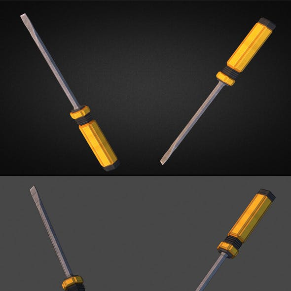 Screwdriver - 3D Low Poly