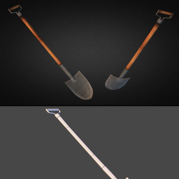 Shovel - Low Poly