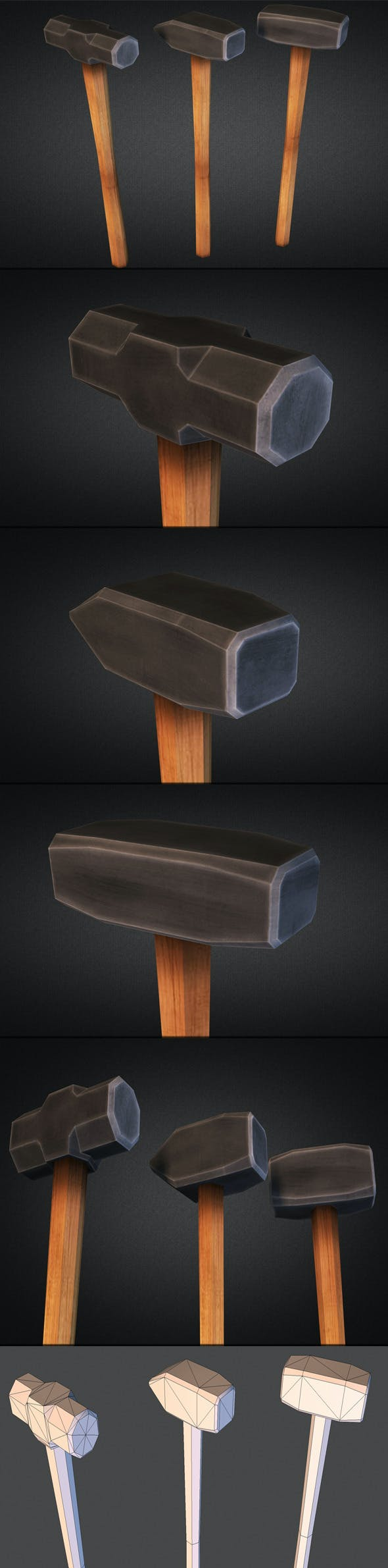 Sledgehammers - Low Poly - 3DOcean Item for Sale