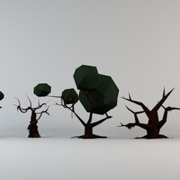 Low Poly Cursed Trees Pack 1